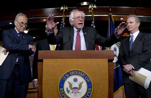 Bernie Sanders, Charles Schumer, Chris Van Hollen, Steve Israel