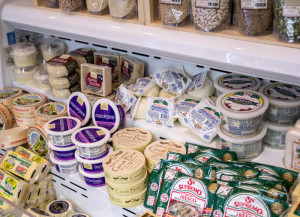 Brandon Addeo | The Duquesne Duke. Although some prices might be higher than competitors', the Market St. Grocery offers a variety of specialty treats like these cheeses and basic food staples only a few minutes from Duquesne. The store sells a selection of local meats and produce.