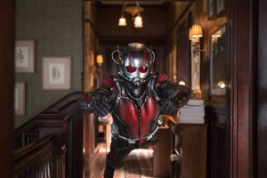 Scott Lang trains in the Ant-Man suit by attempting to leap through a key hole (AP Photo)