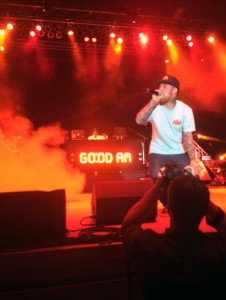 "Photo courtesy of Taylor Goodman. Mac Miller raps in front of a sold-out crowd of 5,000 at Stage AE in Pittsburgh Sunday. The 23-year-old played old favorites and new songs from ""GO:OD AM."""