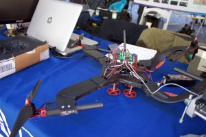 Three students from Duquesne's Biomedical Engineering program displayed their custom built, pothole detecting quadcopter.