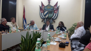 Photo Courtesy of Kevin Tidgewell Pittsburgh politicians, scholars and business people meet with the president of the University of Havana in Cuba as part of an outreach trip from Pennsylvania.