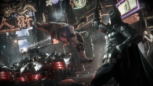"Courtesy of Rocksteady Studios ""Batman: Arkham Knight"" wraps up the ""Arkham"" trilogy that began with 2009's ""Arkham Asylum."" The game features many favorite Batman villains such as Penguin and Poison Ivy, as well as a mysterious new one known only as the Arkham Knight."