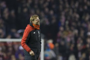 AP Photo - Liverpool's manager Juergen Klopp reacts, after the English FA Cup third-round replay soccer match between Liverpool and Exeter at Anfield Stadium, Liverpool, England, Wednesday Jan. 20, 2016.