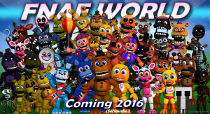 "Courtesy of Scott Cawthorn ""FNaF: World"" is a spin off from the popular horror franchise ""Five Nights at Freddy's."" While featuring the same characters, it switches out the point-and-click gameplay for a turn-based RPG one"