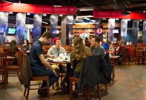 Photo by Joseph Guzy | Photo Editor. In addition to being a great place to have a more upscale meal on campus, The Red Ring Bar & Grille on Forbes Ave. is also host to various events throughout the semester.
