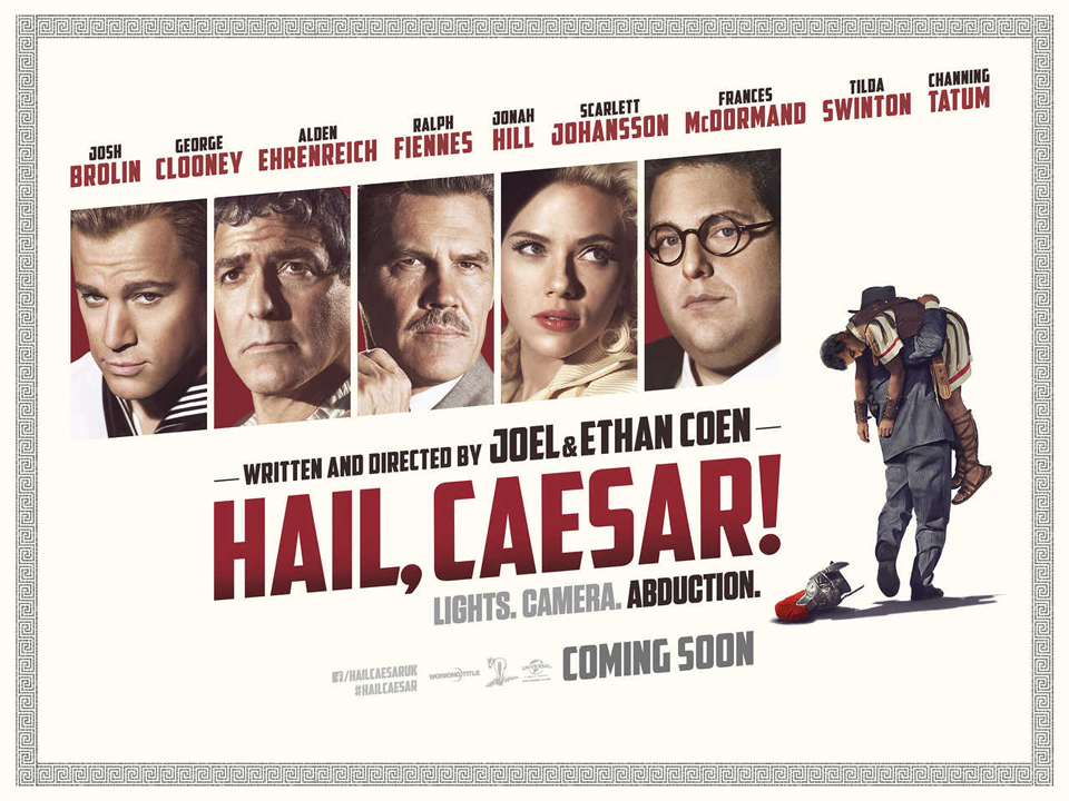 "Courtesy of Universal Pictures ""Hail, Caesar"" was initially planned to be about a stage play in the 1920s, rather than a movie in the studio system days of Hollywood."