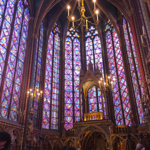 Photo by Rebekah Devorak | Opinions Editor. Sainte-Chapelle's upper level is home to breathtaking stained glass.