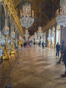 Photo by Rebekah Devorak | Opinions Editor. Versailles' Hall of Mirrors is just one of its many displays of extravagance.