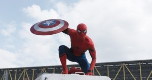 "Courtesy of Marvel Studios ""Civil War"" marks the first appearance of Spider-Man in the MCU. His film rights were previously owned by Sony, but Marvel Studios reached a deal with the company to allow Spidey to appear in its films."