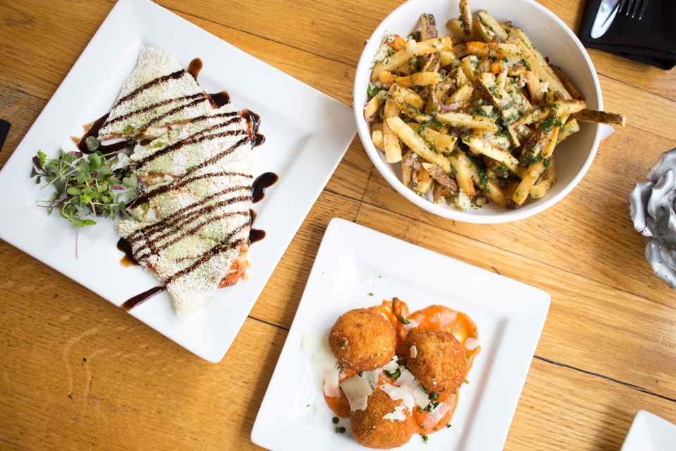 Photo by Seth Culp-Ressler   Features Editor. Clockwise from the bottom is the Sicilian arancini, the tapioca from Rio de Janeiro and the poutine from Quebec.