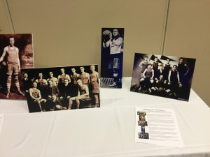 By Joseph Sykes   Sports Editor - A table in the Power Center displays photographs of Cumberland Posey during his time as an athlete in Pittsburgh. Later this year, Posey will be the first man to be enshrined in two sports halls of fame.