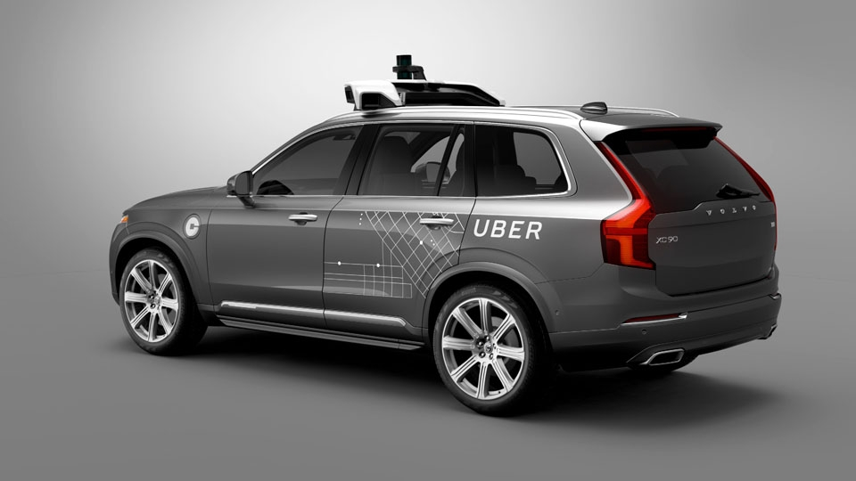 Uber will unleash a series of self-driving Volvo XC90 SUVs onto Pittsburgh roadways by the end of August. This photograph is a depiction of what these brand new driverless cars will look like.