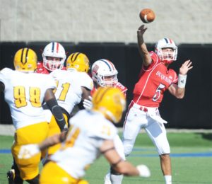Courtesy of Duquesne Athletics Dillon Buechel throws a pass against Kennesaw State.