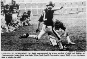 Courtesy Gumberg Library Digital Collections. University trivia: the Duquesne football team used to be known as the Grid Iron Dukes.