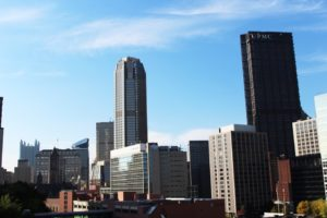Kailey Love   Photo Editor The sun shines on the Downtown skyline Wednesday. A recently released report said the Duquesne contributed about $491 million to the Pittsburgh economy in 2015.
