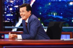 "Courtesy of CBS Television Studios Stephen Colbert covered the election on Showtime, rather than his usual host CBS, allowing him to swear during the live broadcast of ""The Late Show."""