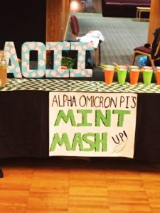 Luke Macios | Contributor Alpha Omicron Pi's table at the Mocktail competition during the annual Alcohol Awareness Week.