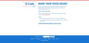 Screenshot of www.5calls.org