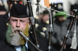 AP Photo A participant in Munich's St. Patrick's Day parade. The holiday is celebrated all over the world.