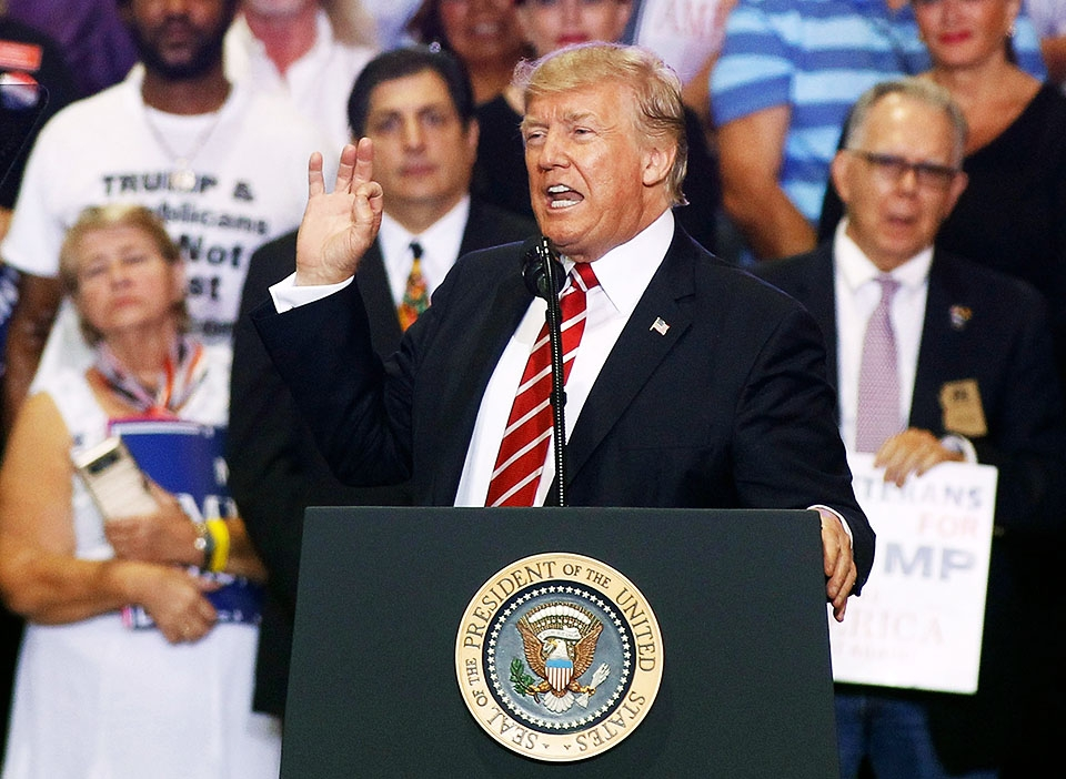 President Trump Holds Rally In Phoenix, Arizona